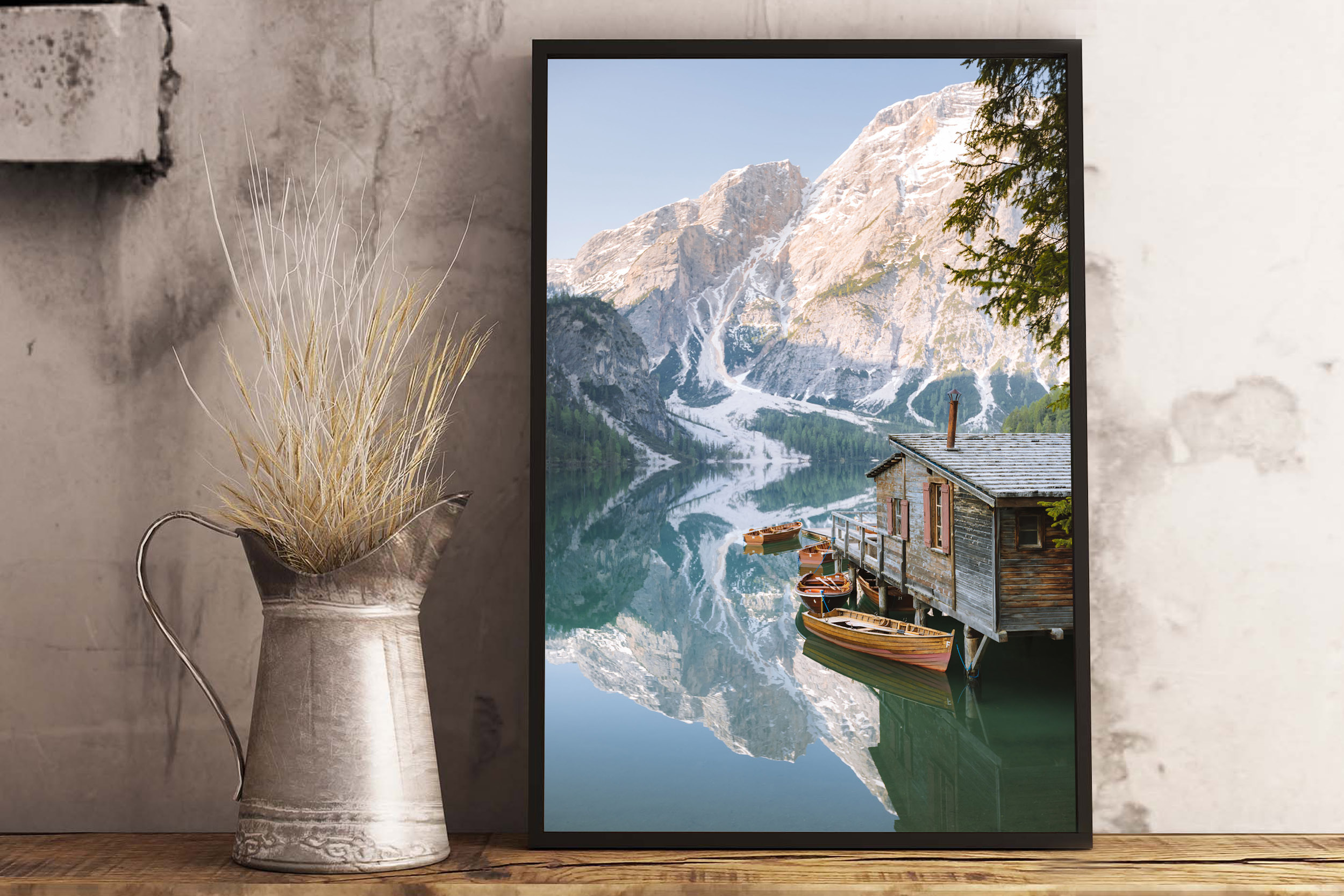 Lago di Braies Print Preview