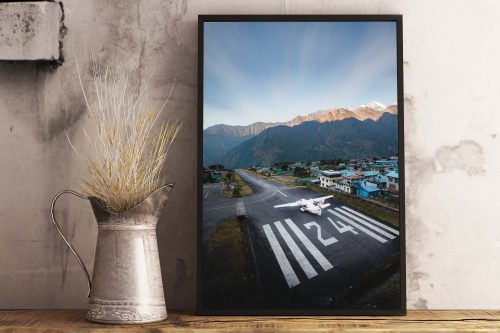 Lukla Airport - Roy Mosterd Print