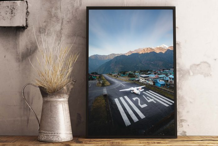 Lukla Airport - Roy Mosterd Print